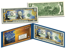 STARRY NIGHT by Vincent van Gogh Genuine Legal Tender Colorized U.S. $2 ... - $13.81