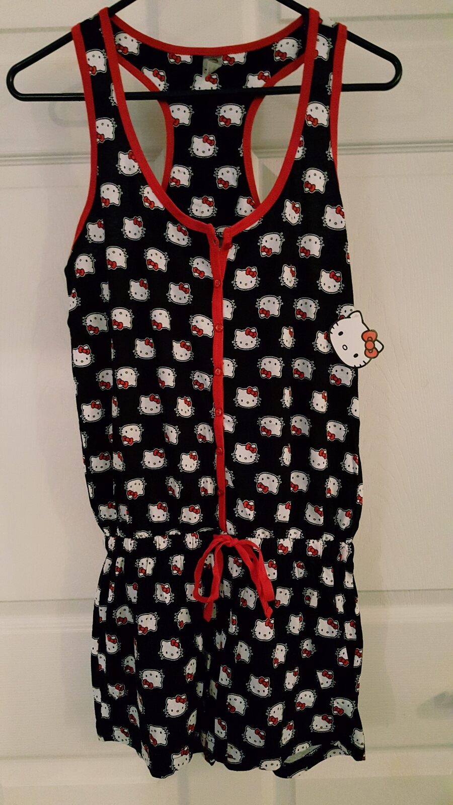 Sanrio Hello Kitty Women's Kitty Print Romper Playsuit Sleepwear Size Large