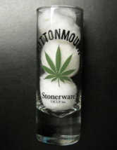 Cottonmouth Stonerware Shot Glass Tall Size Marijuana Leaf and Drink Rec... - $7.99