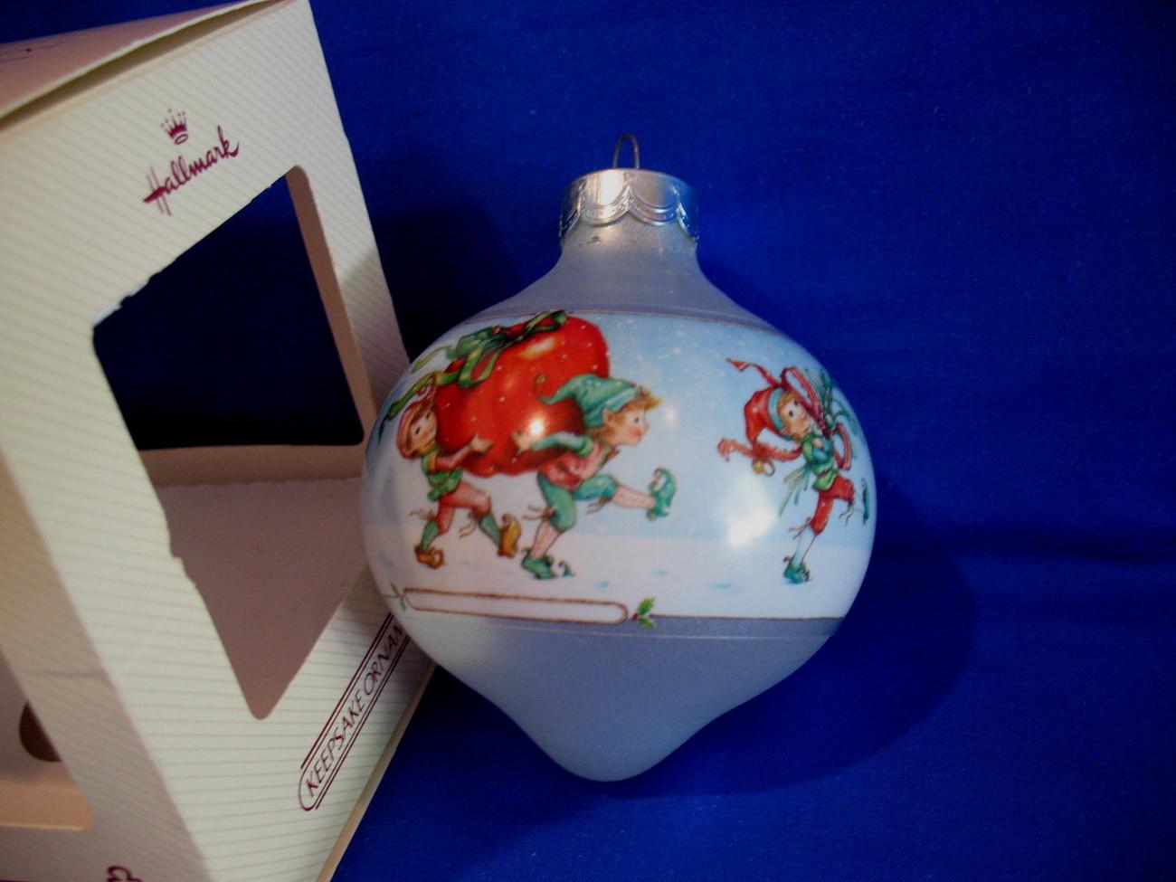 Hallmark Christmas Ornament Teacher 1984 Glass