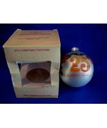 Hallmark Christmas Ornament 25th Christmas Together 1980 Gla - $5.99