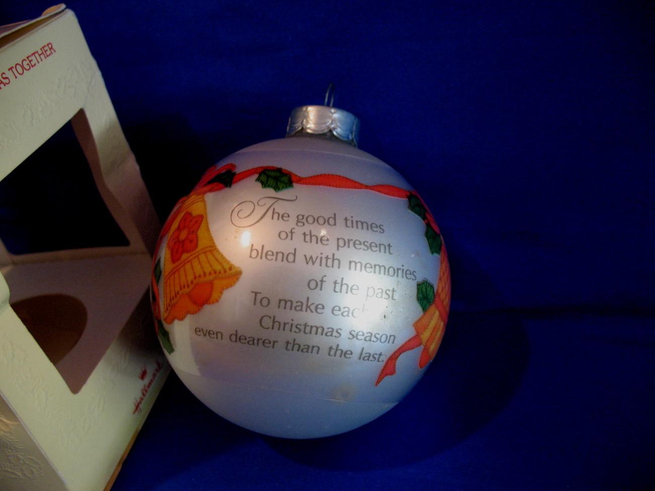 Hallmark Christmas Ornament 25th Christmas Together 1980 Gla