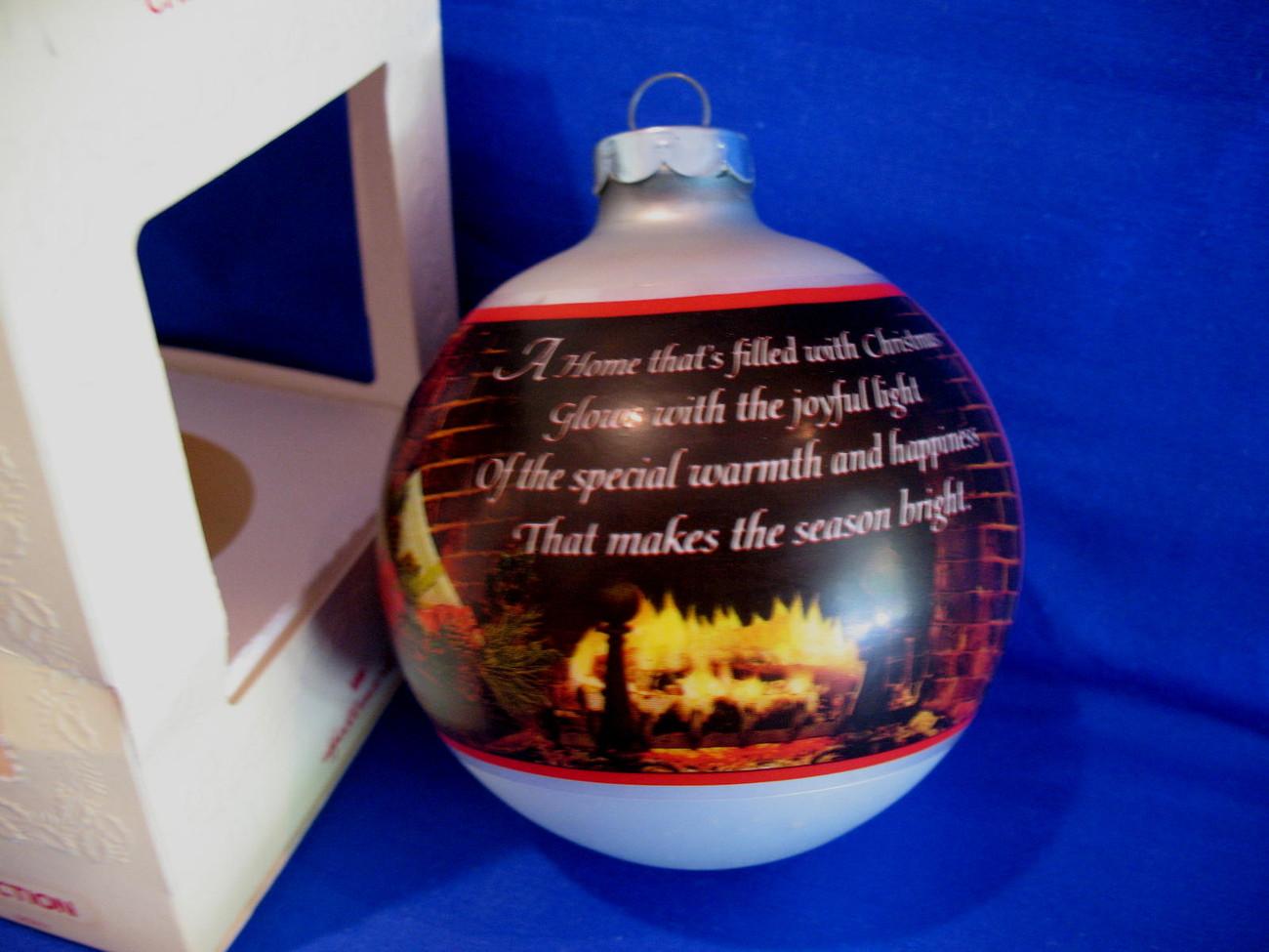 Hallmark Christmas Ornament Christmas At Home 1980 Glass