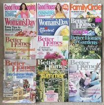 Lot 12 Summer BBQ Gardening magazines Better Homes Good Housekeeping Wom... - $10.99