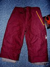 Spyder Mini Independent Pants Ski Winter Kids Youth Boys Toddler Burgandy 2 - $74.87