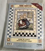 New Share My Garden Bunnies Nina Shaffer Cross Stitch Kit. Share My Heart. - $16.39