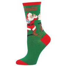 Coca Cola Classic Santa Logo Women's Socks Green - $9.98