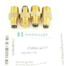 LOT OF 4 NEW IN BAG HARDINGE CSA000146703 RESTRICTORS FSB 3/0 1/4'' NPT
