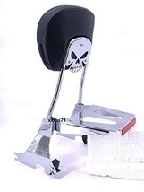 MyLohas Skull Detachable Sissy Bar Backrest for Harley Sportster XL 883 XL1200 0 - $106.92