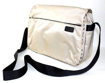 43785235fecf 1. 1. Previous. Auth Burberry London Blue Label Crossbody Shoulder Bag  Nylon Canvas Made Japan