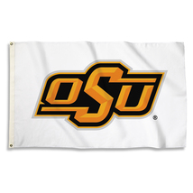Oklahoma State Cowboys White 3'x5' Flag with Grommets  - $35.95
