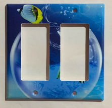 Fish Jump out from Glass Light Switch Power Outlet wall Cover Plate Home decor image 8