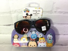 Disney Tsum Tsum Girls 4-6X Sunglass & Case Set Sunglasses Minnie Mouse Olaf NEW - $15.83