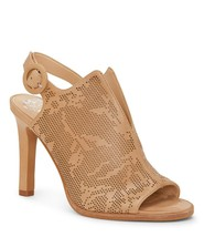 Vince Camuto Nattey2 Perforated Leather Sandals, Multip Sizes Natural VC... - $109.95