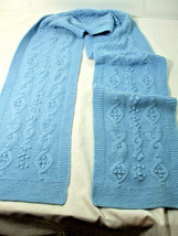 "Geneva Women's Neck Scarf 100% Cashmere Knit Light Blue Color 9"" x 84"" l... - $29.65"