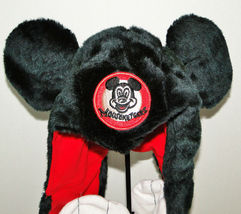 Disney Parks Mickey Mouse Snood Hat Cap & Gloves Attached image 4