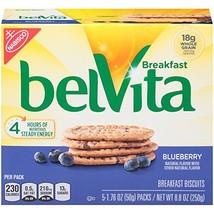 belVita Breakfast Biscuits, Blueberry Flavor, 30 Packs 4 Biscuits Per Pack