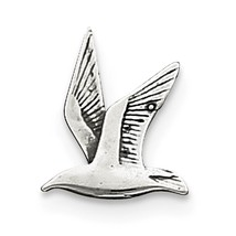 .925 Sterling Silver Antique Seagull Charm Pendant - QC5011VJ4517 - $9.60