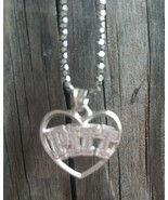 """Women's Pitt Panthers Sterling Silver Logo Heart Pendant Necklace 9"""" Chain - $49.49"""
