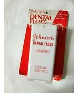 Vtg Dental Floss Unwaxed 200 Yards Family Size Johnson & Johnson NOS Sealed - $86.08