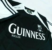 Guinness Beer Soccer Black White Jersey T Shirt Dublin Ireland 1759 Sz L - $27.99