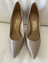 Salvatore Ferragamo  Size 7B Tan Nutmeg Leather Pumps Shoes Susi Style $695 - $145.00