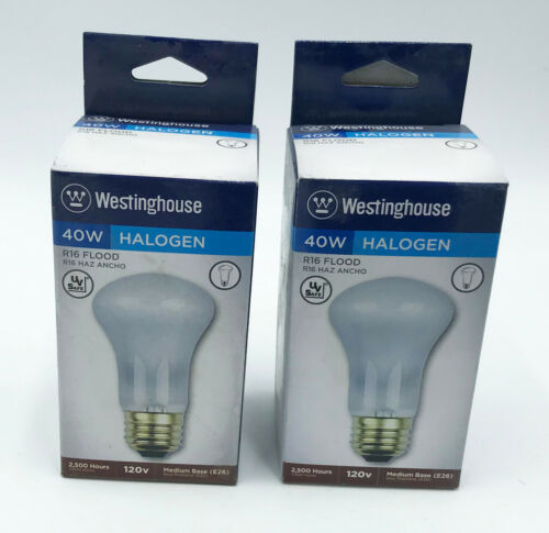 Primary image for Lot 2x Westinghouse Lighting 40 Watt 450 Lumens R16, 70° Beam 2500 Hours 120 V