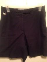 Lizgolf Liz Claiborne Golf Walking Bermuda Shorts Sz 6 Navy Blue Poly Coolmax - $19.79