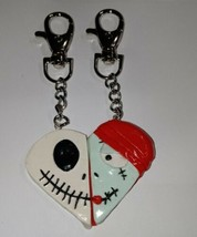 Cute BFF Jack/Sally Charm Keychain Clip On Accessory Kids Character - $8.00
