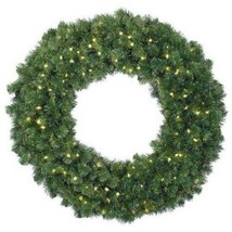 "Barcana 24"" Alaskan Fir Wreath - Pre-Lit with C... - $24.00"