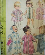 Vintage 1950s Pattern Toddler Wardrobe Size 1 McCalls 8718 - $8.95