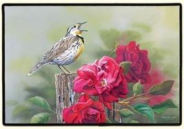 27x18 MEADOW LARK Bird Flower Floral Doormat Floormat   - $26.50