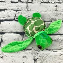 """Hanging Sea Turtle Plush Green 6"""" Stuffed Animal Big Eyes Soft Ocean Nature Toy - $7.91"""