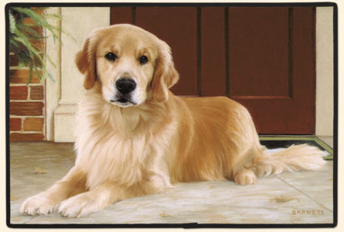 "27""x18"" GOLDEN RETRIEVER Dog Doormat Floormat"