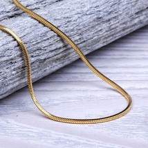 Men's Yellow Gold Snake Box Chain Necklace - $16.39