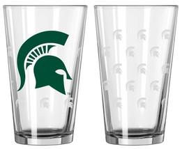 Michigan State Spartans Satin Etch Pint Glass 16oz - $11.65