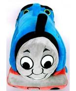 "Thomas The Tank Engine Train Blue Plush Cuddle Pillow Stuffed Animal 16"" - $21.02"
