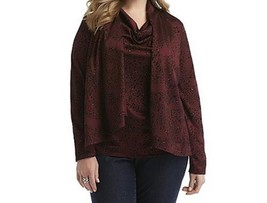 Women's Fall Winter party 2 in 1 Cardigan-Velveteen top blouse tunic plu... - $39.59