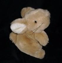 "5"" VINTAGE EDEN BABY BROWN TAN BUNNY RABBIT STUFFED ANIMAL PLUSH TOY SOF... - $15.90"