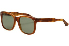 Gucci Women's GG0050S GG/0050/s 002 Havana/Green Fashion Sunglasses 56mm - $215.99