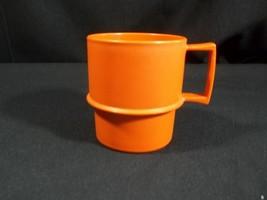 Tupperware Coffee Cup Harvest Orange 1312 Vintage - $4.90