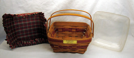 1993 Longaberger Bayberry Basket Christmas Collection w/ Liner and Prote... - $19.79