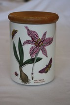 "Portmeirion Botanic Garden 5.5"" Airtight Canister Colchicum Meadow Saffron - $45.54"