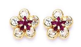 """14k Gold Earring of Flower, Screw Back for Children ,Adults, Girls """"SALE"""" $39.99 - $38.66"""