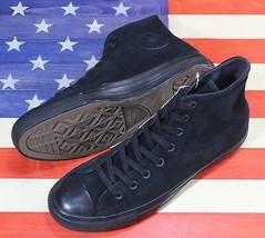 CONVERSE SAMPLE Chuck Taylor ALL-STAR HI Plush Suede Black Shoe [157520C... - $88.88