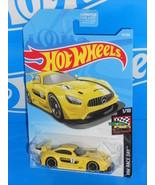 Hot Wheels 2019 HW Race Day #74 '16 Mercedes-AMG GT3 Yellow w/ PR5s - $2.50