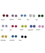 Silver Earring Bsirthstone Sterling 6 MM Stud P... - $13.54