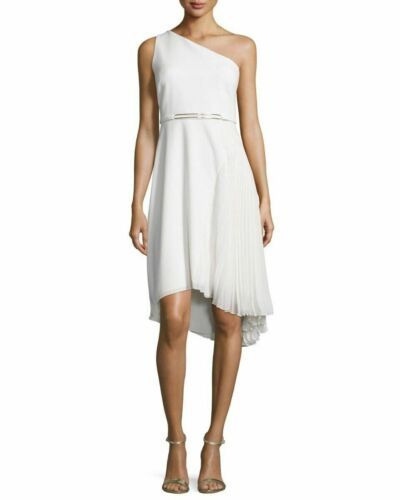Primary image for Halston Heritage One-Shoulder Pleated-Skirt Dress SZ. 10  $445