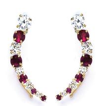 14k Gold Fancy Earrings CZ  for Adults 44-7 On SALE!!!! - $62.88