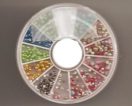 Wheel Nail Art Small Beads  Slice Decoration